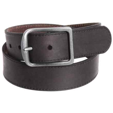 Frye 40mm Panel Belt - Leather (For Men) in Black/Nickel - Overstock