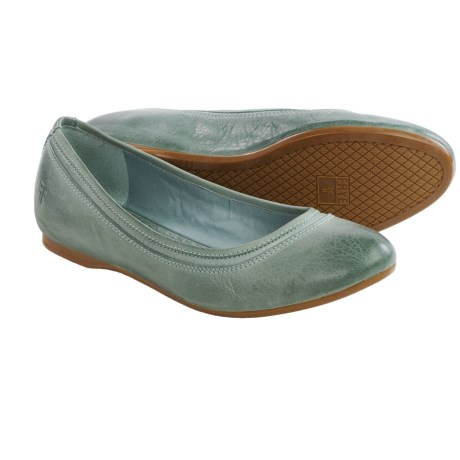 Frye Agnes Leather Ballet Flats Slip Ons (For Women)
