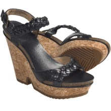 Frye Braylin 2 Braided Sandals - Leather (For Women) in Black - Closeouts