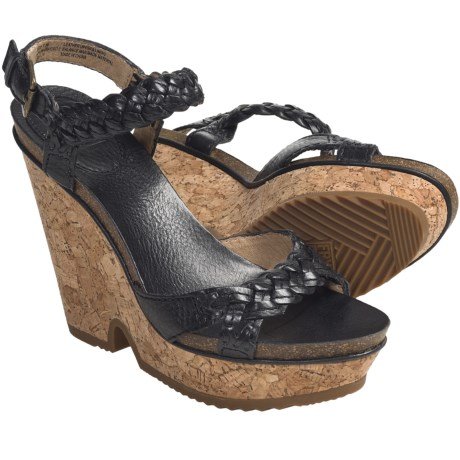 Frye Braylin 2 Braided Sandals - Leather (For Women) in Black