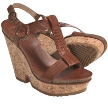 Frye Braylin Artisanal T-Strap Sandals - Leather (For Women) in Cognac - Closeouts