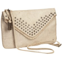 Frye Brooke Envelope Clutch Purse - Italian Leather (For Women) in White - Closeouts