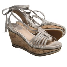 Frye Carlie Strappy Sandals - Leather, Wedge (For Women) in Ice - Closeouts