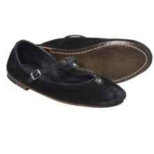 Frye Carson Braided T Ballet Flats - Suede (For Women) in Black - Closeouts
