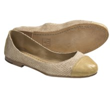Frye Carson Cap Toe Ballet Shoes - Leather (For Women) in Banana - Closeouts