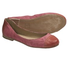Frye Carson Cap Toe Ballet Shoes - Leather (For Women) in Coral - Closeouts