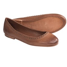 Frye Carson Rivet Shoes - Ballet Flats, Leather (For Women) in Tan - Closeouts