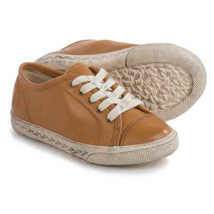 Frye Chambers Low Sneakers - Leather (For Toddlers) in Camel - Closeouts