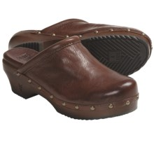 Frye Clara Campus Clogs - Leather, Open-Back (For Women) in Cognac - Closeouts