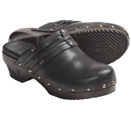 Frye Clara Stud Clogs - Leather, Open-Back (For Women) in Black