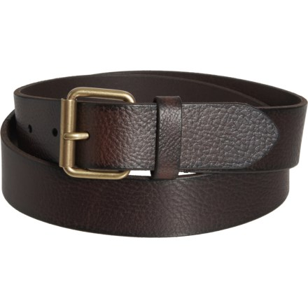 20a6c40b30eb0 Frye Flat Panel Leather Belt - 35mm (For Men) in Brown/Old English
