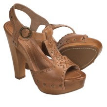 Frye Fran Artisanal Sandals - Studded T-Strap (For Women) in Natural - Closeouts
