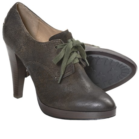 Frye Harlow Oxford Shoes - Oiled Leather, Platform (For Women) in Tan
