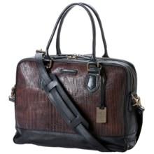 Frye James Zip Work Bag - Italian Leather (For Men) in Dark Brown - Closeouts