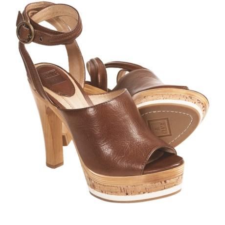 Frye Kara Trapunto Sandals - Leather (For Women) in Brown