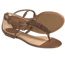 Frye Laurel Flower T-Strap Sandals - Leather (For Women) in Tan - Closeouts