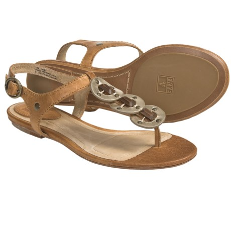 Frye Laurel Ring Ankle Sandals - Leather (For Women) in Off White