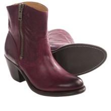 Frye Leslie Zip Western Boots - Leather (For Women) in Burgundy - Closeouts