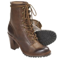 Frye Lucy Boots - Leather, Lace-Ups (For Women) in Tan - Closeouts