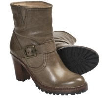 Frye Lucy Engineer Boots - Leather (For Women) in Putty - Closeouts