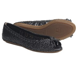 Frye Malorie Woven Peep-Toe Shoes (For Women) in Black