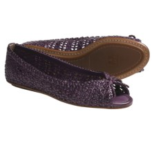 Frye Malorie Woven Peep-Toe Shoes (For Women) in Purple - Closeouts