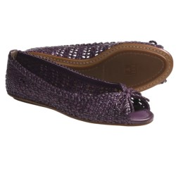Frye Malorie Woven Peep-Toe Shoes (For Women) in Purple