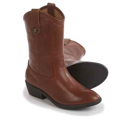 Frye Melissa Button Cowboy Boots - Leather (For Little and Big Girls) in Cognac - Closeouts