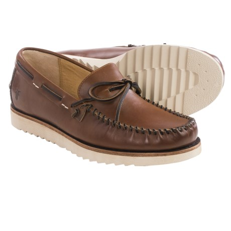 Frye Nathan Tie Boat Shoes Leather (For Men)