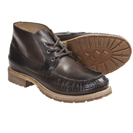 Frye Nolan Chukka Leather Boots (For Men) in Charcoal