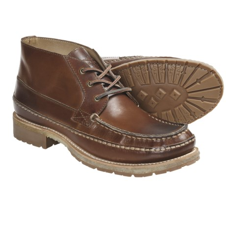 Frye Nolan Chukka Leather Boots (For Men) in Saddle