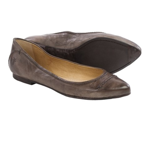 Frye Olive Seam Ballet Flats Leather (For Women)