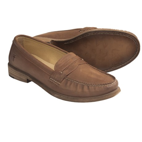 Frye Otis Penny Loafer Shoes (For Women) in Cognac