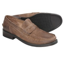 Frye Otis Penny Loafer Shoes - Leather (For Men) in Fatigue - Closeouts