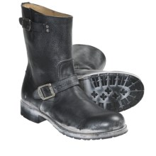 Frye Rogan Engineer Boots - Leather (For Men) in Black - Closeouts