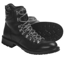 Frye Rogan Hiker Boots - Pebbled Leather (For Men) in Black - Closeouts