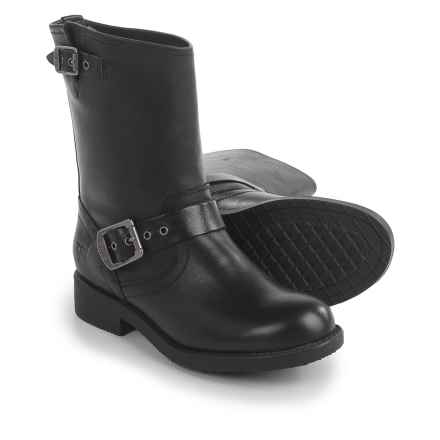 Frye Small Frye Engineer Boots - Leather (For Little and Big Girls) in Black - Closeouts