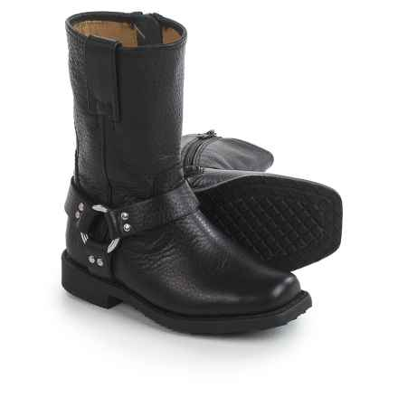 Frye Small Frye Harness Boots - Leather (For Toddlers) in Black - Closeouts