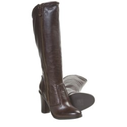 Frye Sylvia Piping Tall Boots (For Women) in Dark Brown