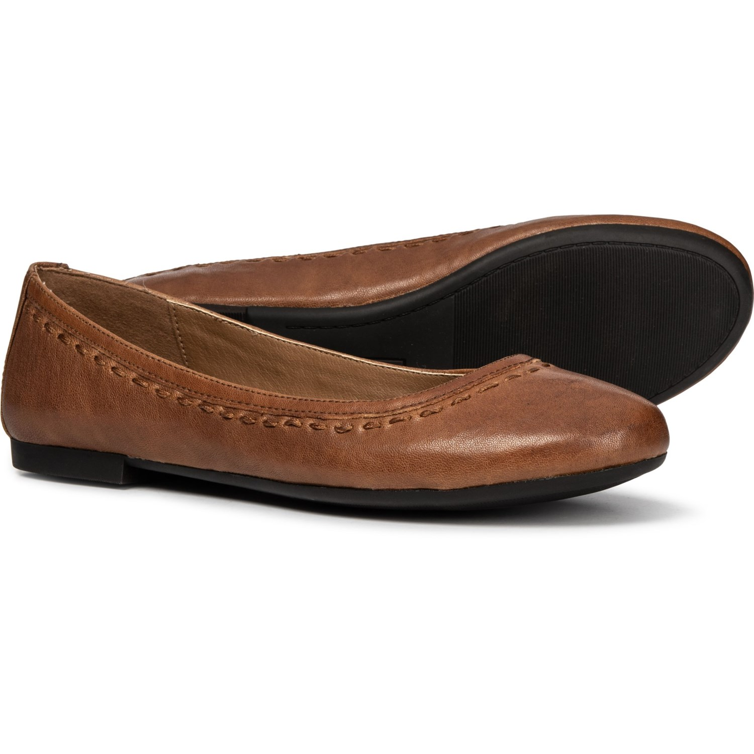 851e9de8e862c Frye Toshia Stitch Ballet Flats - Leather (For Women) in Whiskey
