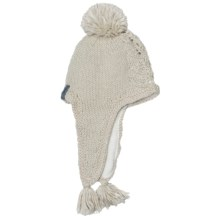 Fu-R Headwear Aria Hat - Fleece Lining, Ear Flaps (For Women) in White - Closeouts