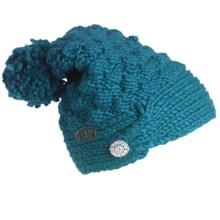 FU-R Headwear Cinta Grande Slouchy Pompom Hat (For Women) in Kingfisher - Closeouts
