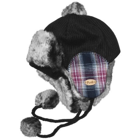 Fu-R Headwear Fiona Trapper Hat - Faux Fur, Ear Flap (For Women) in Black