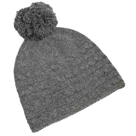 Fu-R Headwear I Woke Up Like This Beanie - Nylon-Angora (For Women) in Gray-Dient - Closeouts