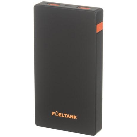 Fuel Tank Slim Power Bank Portable Power Pack - 6,000 mAh in Black/Orange