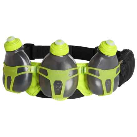FuelBelt Helium H3O Hydration Belt in Black/ Lagoon Green - Closeouts