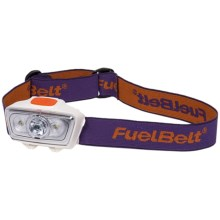 FuelBelt Helium LED Headlamp in Grape/Orange - Closeouts