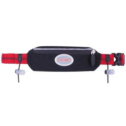 FuelBelt Helium Super-Stretch Waist Pack in Race Black/Rush Red - Overstock