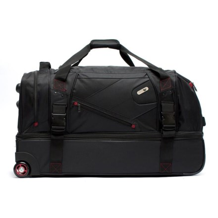 f0d18e8c9d2 Ful 110L Tour Manager Deluxe Split Rolling Duffel Bag in Black - Closeouts