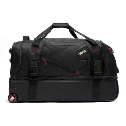 Ful 110L Tour Manager Deluxe Split Rolling Duffel Bag in Black - Closeouts
